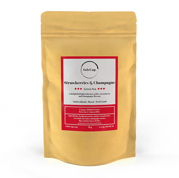 SoleCup Strawberry and Champagne Loose Tea