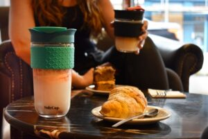SoleCup Large Reusable Glass Coffee Cup