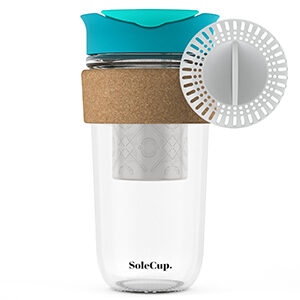 Blue SoleCup with Tea Infuser and Filter
