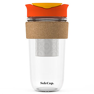 Red Reusable Cup with Tea Infuser