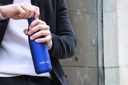 Electric Blue Reusable Travel Bottle